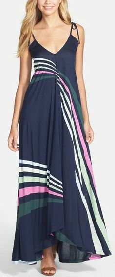French Connection 'Rainbow' Jersey Maxi Dress