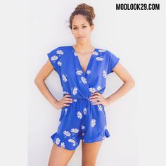 Summer sale get our Blue Cicely floral romper for only $45 online at www.modlook29.com! Also available in store at our LA Westwood Village boutique!