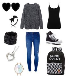 """School"" by sillygirl14 on Polyvore featuring Toast, M&Co, Dorothy Perkins, Converse, Vans, Dollydagger and Saachi"