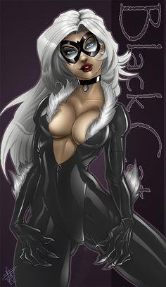 Black Cat - RDOWN.deviantart.com  Auction your comics on http://www.comicbazaar.co.uk