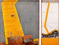 christo & jeanne-claude show an extensive overview of works in progress in st. moritz