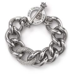 Juicy Couture Crystal Link Bracelet (89 BAM) ❤ liked on Polyvore featuring jewelry, bracelets, accessories, juicy couture, juicy couture jewelry, crystal jewellery, crystal stone jewelry and juicy couture bangle