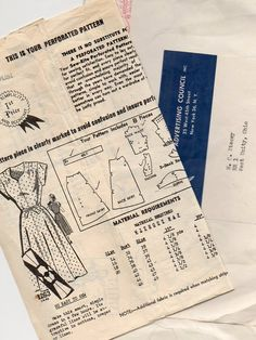 1950s Dress Pattern ~  Short Sleeve Collarless Day Dress ~Fitted Waist ~ Flared Skirt ~ Bust 40 ~  Vintage Frock by VivsVintageSewShop on Etsy