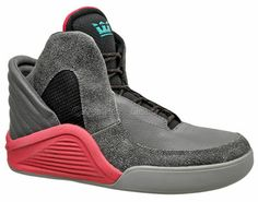 Supra Spectre Chimera Mens High Top Shoes Futuristic Leather Gray Red Black NEW