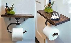 hygee home interiors Wc Decoration, Toilet Paper, My House, Woodworking, Inspirer, Bathrooms, Couture, Crochet, Projects