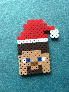 Perler Bead Minecraft Christmas Steve by GeektasticCrafts on Etsy, $1.75