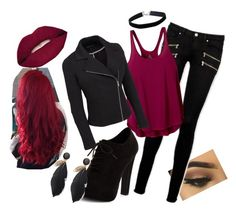 """rocker chic"" by xmegxjx ❤ liked on Polyvore featuring Paige Denim, New Look, prAna, Miss Selfridge, Smashbox, rockerchic, rockerstyle and plus size clothing"