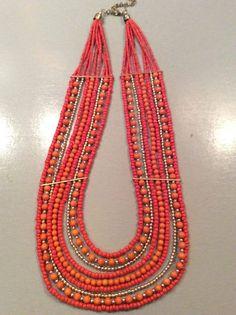 1 Halskette aus Indien Schmuck Kette Hippie Goa Bollywood Neu Hippieschmuck Nr.2