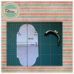 Mon Polaris: Patrón monedero de boquilla {Tutorial} by claudine Coin Purse Pattern, Coin Purse Tutorial, Pouch Tutorial, Purse Patterns, Diy Sac, Frame Purse, Coin Bag, Quilted Bag, Fabric Bags