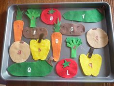 i have a bulletin board and i'm thinking of making felt veggies like this for a game