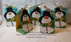 I thought I'd share my pattern for these cute little snowmen.      I start with punching the top of the hat. After making a few and t...
