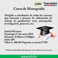 #AvisoImportante  #Monografías #Tesis #Proyectos #UTH #Honduras