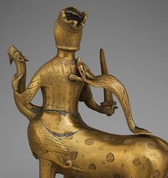 Aquamanile in the Form of a Crowned Centaur Fighting a Dragon [German (Lower Saxony)] (10.37.2) | Heilbrunn Timeline of Art History | The Metropolitan Museum of Art