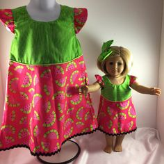18 Inch Doll Clothes-Custom Doll by SweetpeasBowsNmore on Etsy