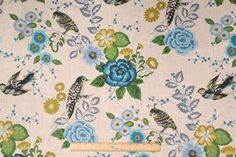 Richloom Bountiful Printed Linen Blend Drapery Fabric in Cornflower $20.95 per yard