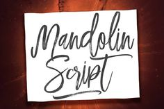 Mandolin Script by Efe Gürsoy. Perfect for cards, invitations, thank you notes, printed quotes, logos and branding projects, product packaging, magazine or book headlines, digital advertising and social media branding applications, among many more. This font will bring a charming and lovable look to your design creation making your texts to look realistic and appealing.