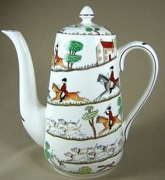 Equestrian Style China--Crown Staffordshire Hunting Scene