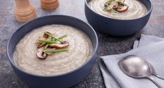 Sensational and simple, this creamy Mushroom Parsnip Soup by Effie See White hits the spot!  #soup #vegetarian #recipe