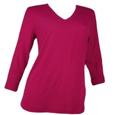 Jones New York Sport Womens 3/4 Sleeve V-Neck Shirt $19.95