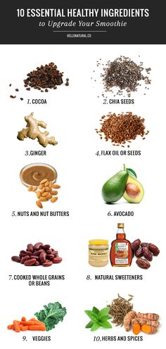 10 Essential: Healthy Ingredients to Upgrade Your Smoothie | http://hellonatural.co/10-essential-healthy-smoothie-ingredients/