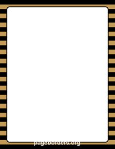 Printable gold and black striped border. Use the border in Microsoft Word or other programs for creating flyers, invitations, and other printables. Free GIF, JPG, PDF, and PNG downloads at http://pageborders.org/download/gold-and-black-striped-border/