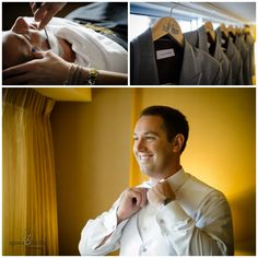 greenville sc wedding photographer hyatt weddings, groomsmen suits, gray groomsmen suits, personalized hangers, old fashioned shave, groom getting ready