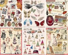 Free Vintage Images for Crafts | Lovely vintage designed collage sheets for paper crafts - oh my so ...