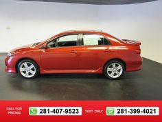 2013 Toyota Corolla S 14k miles $15,461 14677 miles 281-407-9523  #Toyota #Corolla #used #cars #MikeCalvertToyota #Houston #TX #tapcars