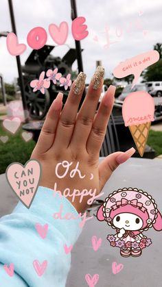baby baby pink nails #coffinnails #coffin #nails #nailfie #naillife #acrylic #acrylicnails #naillife