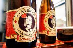 La Virgen: cerveza artesanal con una chulapa de vida alegre en la etiqueta