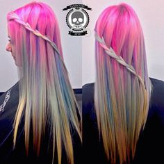 Be sure to mix in our award-winning for the soft hues achieved. Perfect Hair Color, Cool Hair Color, Pelo Multicolor, Hair Color Pictures, Vivid Hair Color, Alternative Hair, Pony Hair, Hair Blog, Mermaid Hair