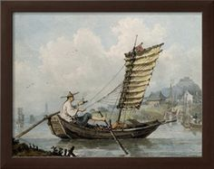"""""""Chinese Sailor Smoking in His Junk"""", 1795,   by William Alexander at Art.com"""
