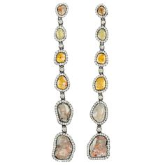 1stdibs - Sliced multi-colored diamond earrings explore items from 1,700  global dealers at 1stdibs.com