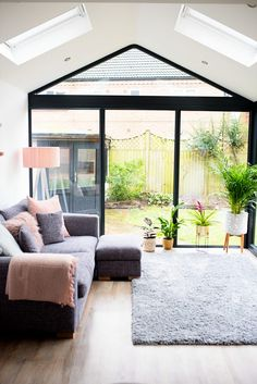 Our Modern Conservatory Extension- Before and After (Home Renovation Project - Mummy Daddy Me - April 13 2019 at Modern Conservatory, Conservatory Extension, Conservatory Interiors Small, Conservatory Playroom Ideas, Conservatory Furniture Ideas, Orangery Extension Kitchen, Conservatory Kitchen, House Extension Design, House Design