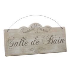 SALLE DE BAIN WOOD SIGN PLAQUE  BATHROOM  VINTAGE FRENCH SHABBY CHIC