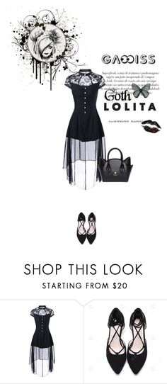 """gamiss goth dress"" by katarinaf ❤ liked on Polyvore featuring black, goth, summer2017 and gamiss"
