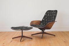Plycraft Mr Chair & Ottoman