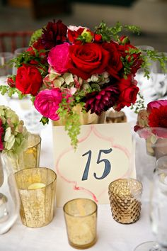 Red, Pink and Gold Wedding at Deer Valley Resort | Fab You Bliss