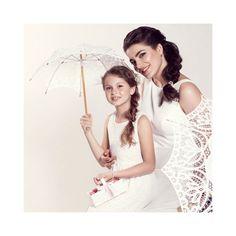Sweet small white parasol for flower girls. Available in four colours. Girls Dresses, Flower Girl Dresses, Flower Girls, Colours, Wedding Dresses, Flowers, Sweet, Fashion, Dresses Of Girls