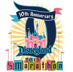 Disneyland Half Marathon 2015 Logo #runDisney