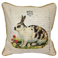 Cotton and linen lapin pillow on Joss & Main