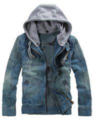 Multi Pocket Zippered Removable Hood Denim Jacket http://www.sammydress.com/product3021167.html?seid=90301nU8EtUdKfrQAd6hQ6vj4K