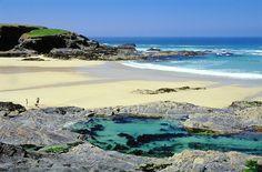 Beaches in UK - Treyarnon Rock Pool, Treyarnon Bay Beach, Padstow, Cornwall - Woman And Home Cornwall Coast, Cornwall Beaches, Devon And Cornwall, Cornwall England, Yorkshire England, Yorkshire Dales, North Cornwall, British Beaches, Uk Beaches