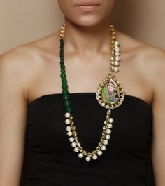 Pearls Embellished Necklace Set by Indiatrend Shop now on www.indianroots.com