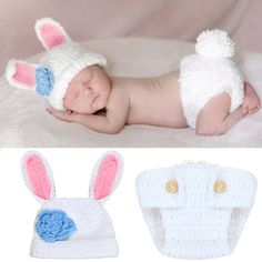 Promotion price New Baby Photography Props Infant Girls Boys Rabbit Crochet Knit Costume Baby Winter Hats+Pants 2pcs/Set Outfits Set For 0-4M just only $5.42 - 6.29 with free shipping worldwide  #babyboysclothing Plese click on picture to see our special price for you