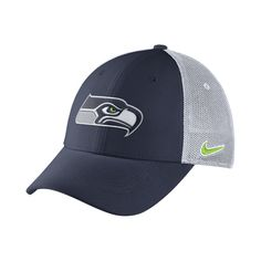 Nike Legacy Vapor Mesh Back (NFL Seahawks) Fitted Hat Size Small M ( 452779476
