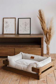 Dog Bed Frame, Diy Dog Bed, Wood Dog Bed, Pallet Dog Beds, Dog Furniture, Quality Furniture, Dog Beds For Small Dogs, Dog Rooms, Dog Houses
