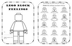 LEGO Block Feelings and Behavior Workbook