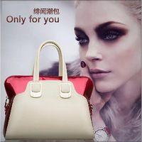High Quality Woman Bag Fashion 2014 Designers Hit Color Patent Leather Handbag Lady Day Clutch Bags Bolsas Femininas 5053