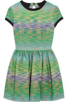 MSGM Cutout-back bouclé mini dress   NET-A-PORTER